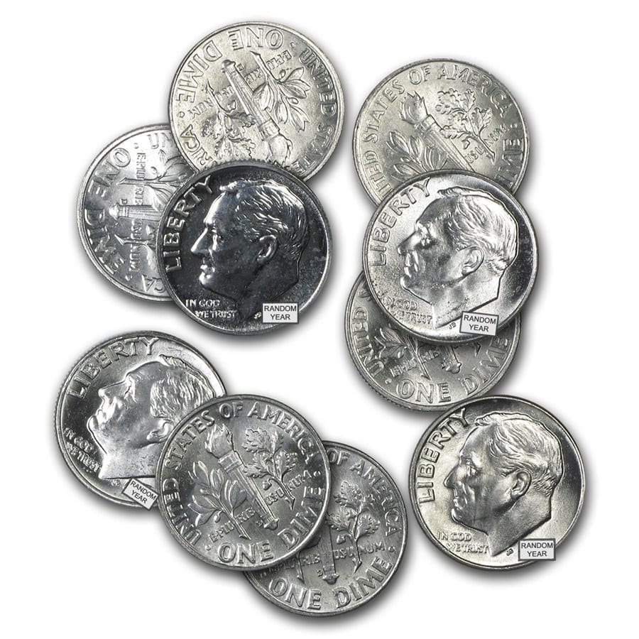 silver roosevelt dimes