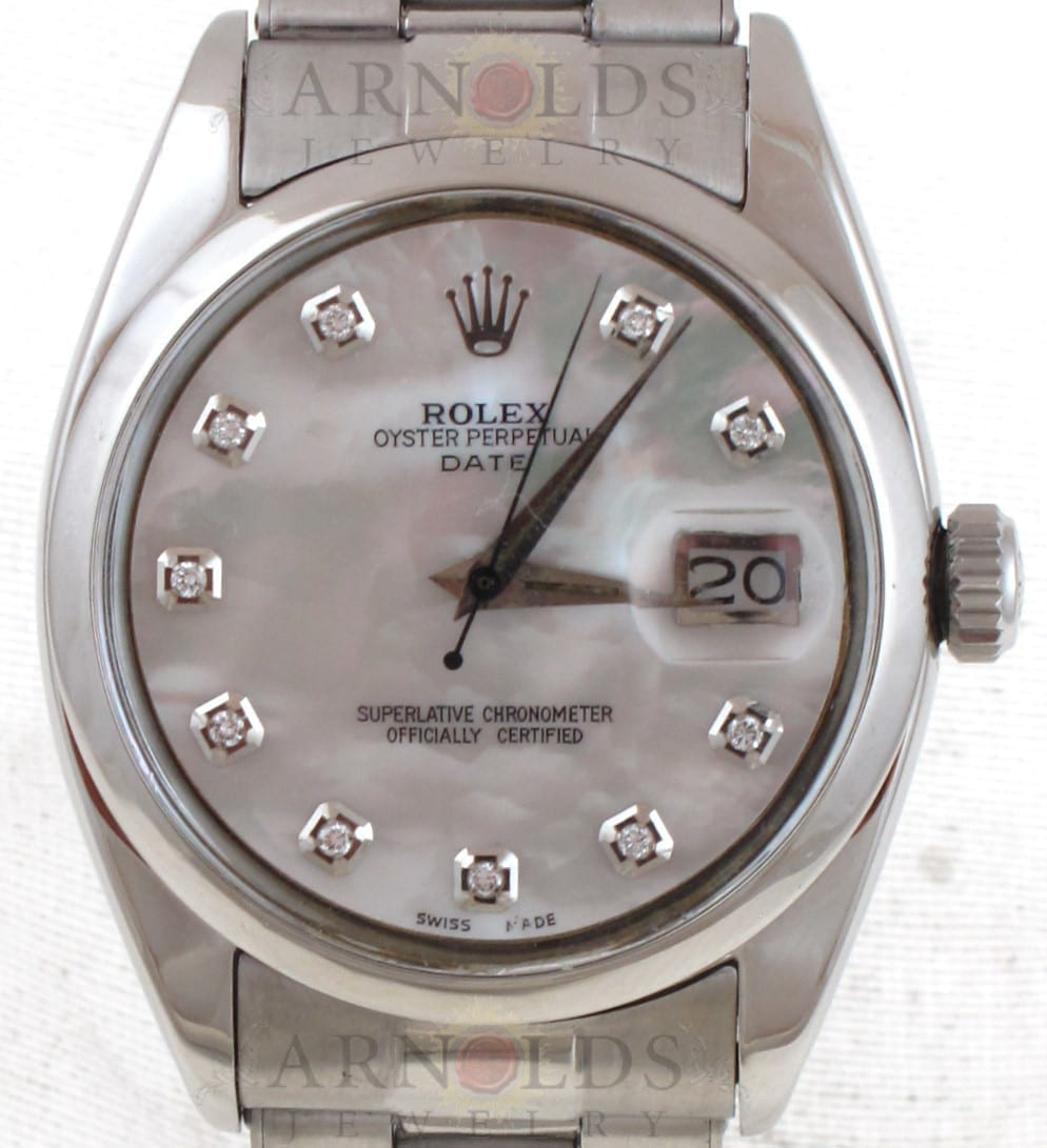 2ebb83a7923 Previous; Next. 1; 2. Previous; Next. Pre-Owned 1957 Vintage Rolex  Stainless Steel Date 34mm Watch ...