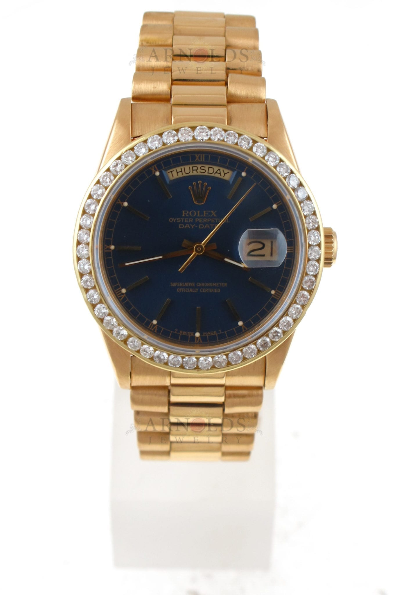 Pre Owned 1985 Rolex Day Date Watch Presidential Single