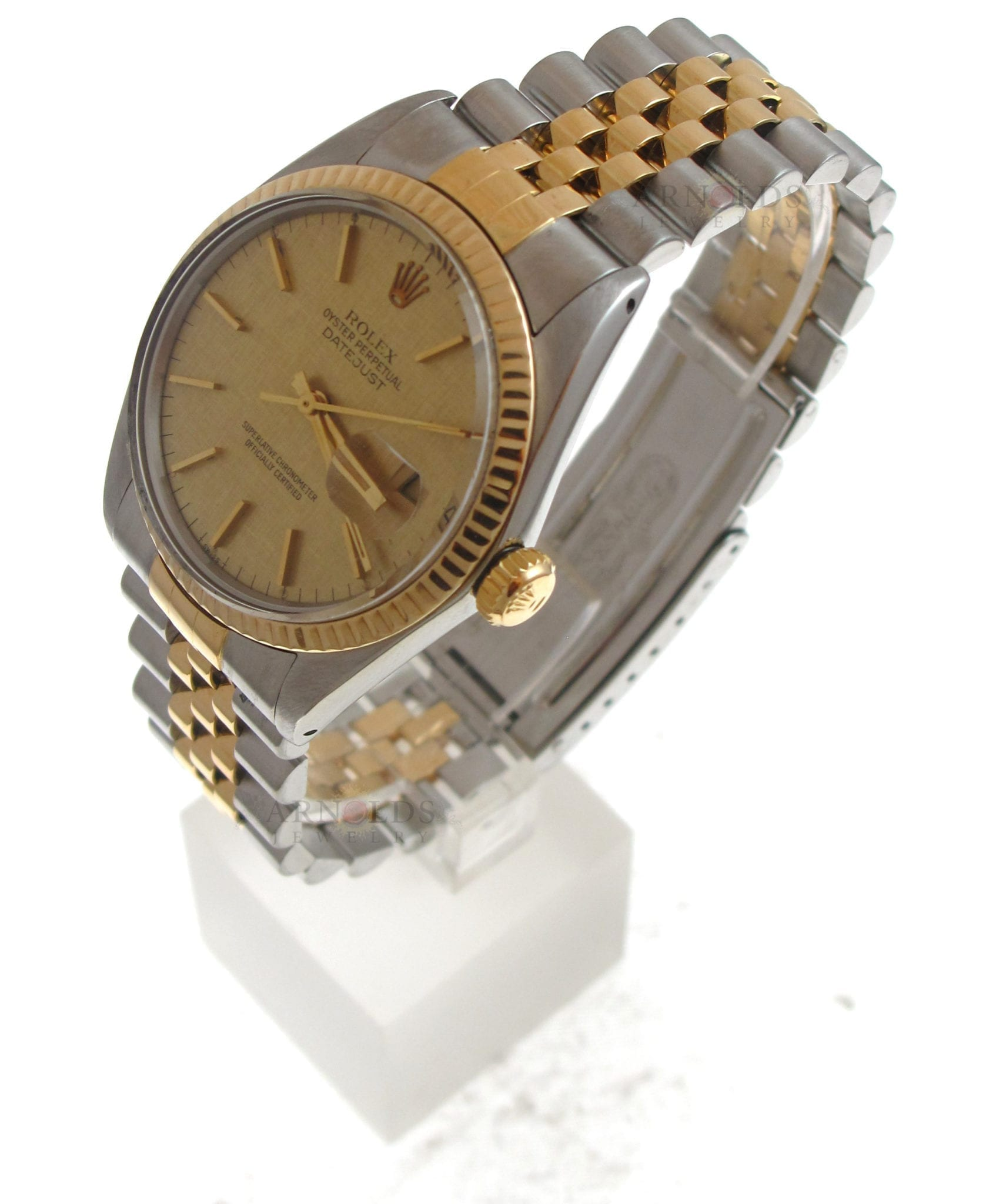 1592b0ca0bf Previous; Next. 1; 2. Previous; Next. Pre-Owned 1982 Two Tone Rolex  Datejust Watch Champagne Florentine Dial With Fluted Bezel And Jubilee Band  ...