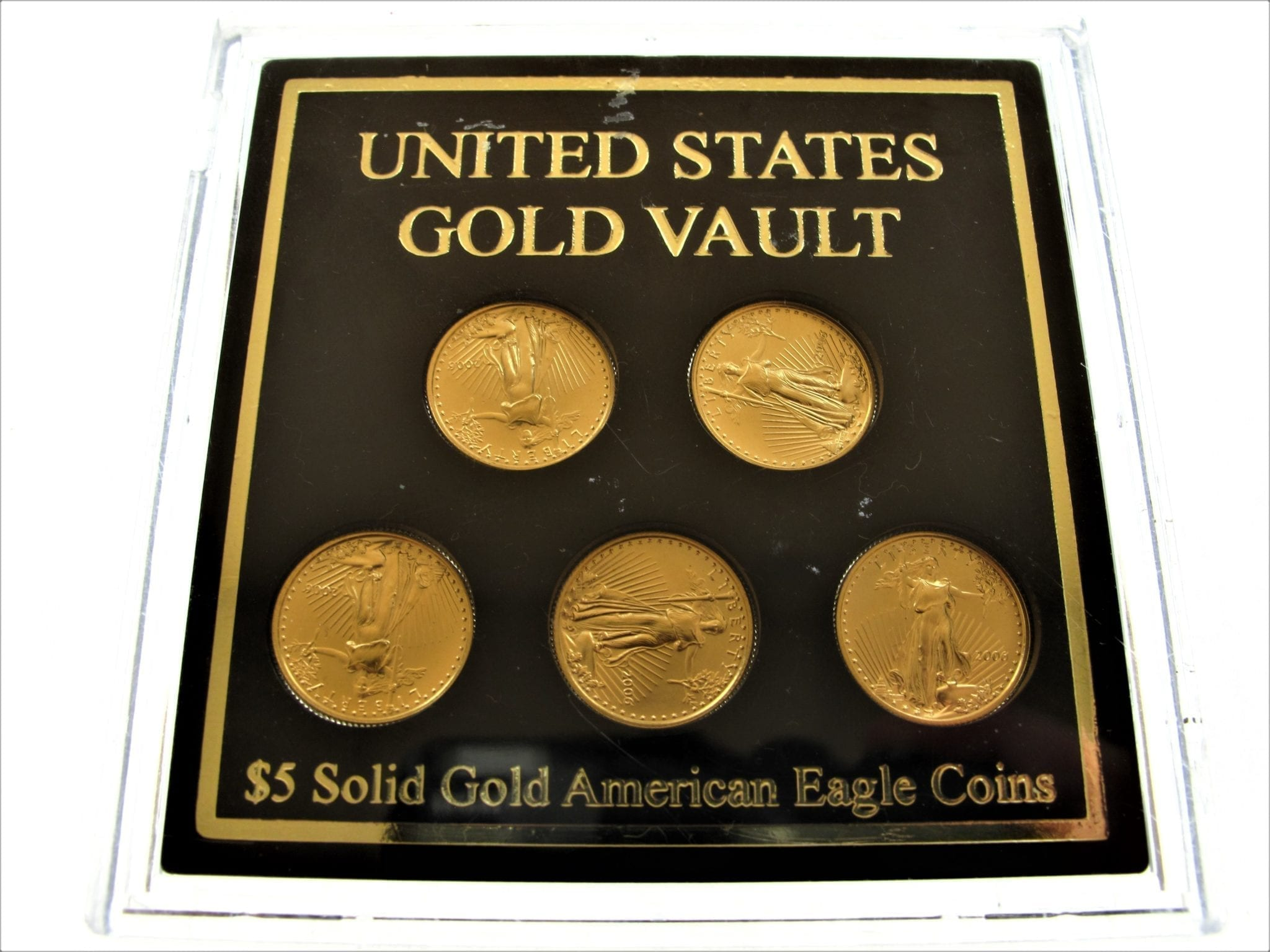 2006 United States Gold Vault 5 Solid Gold American