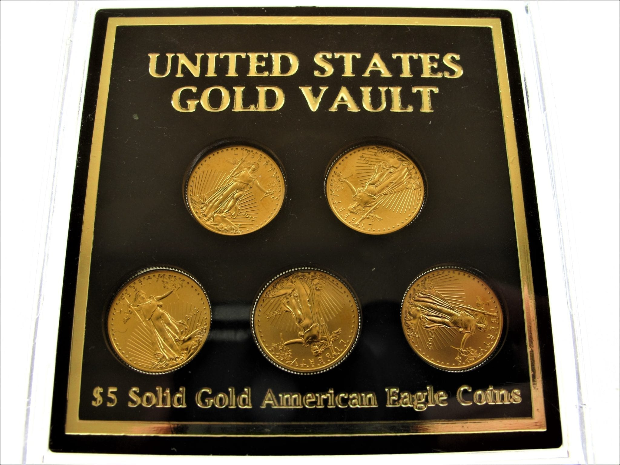 2012 United States Gold Vault 5 Solid Gold American