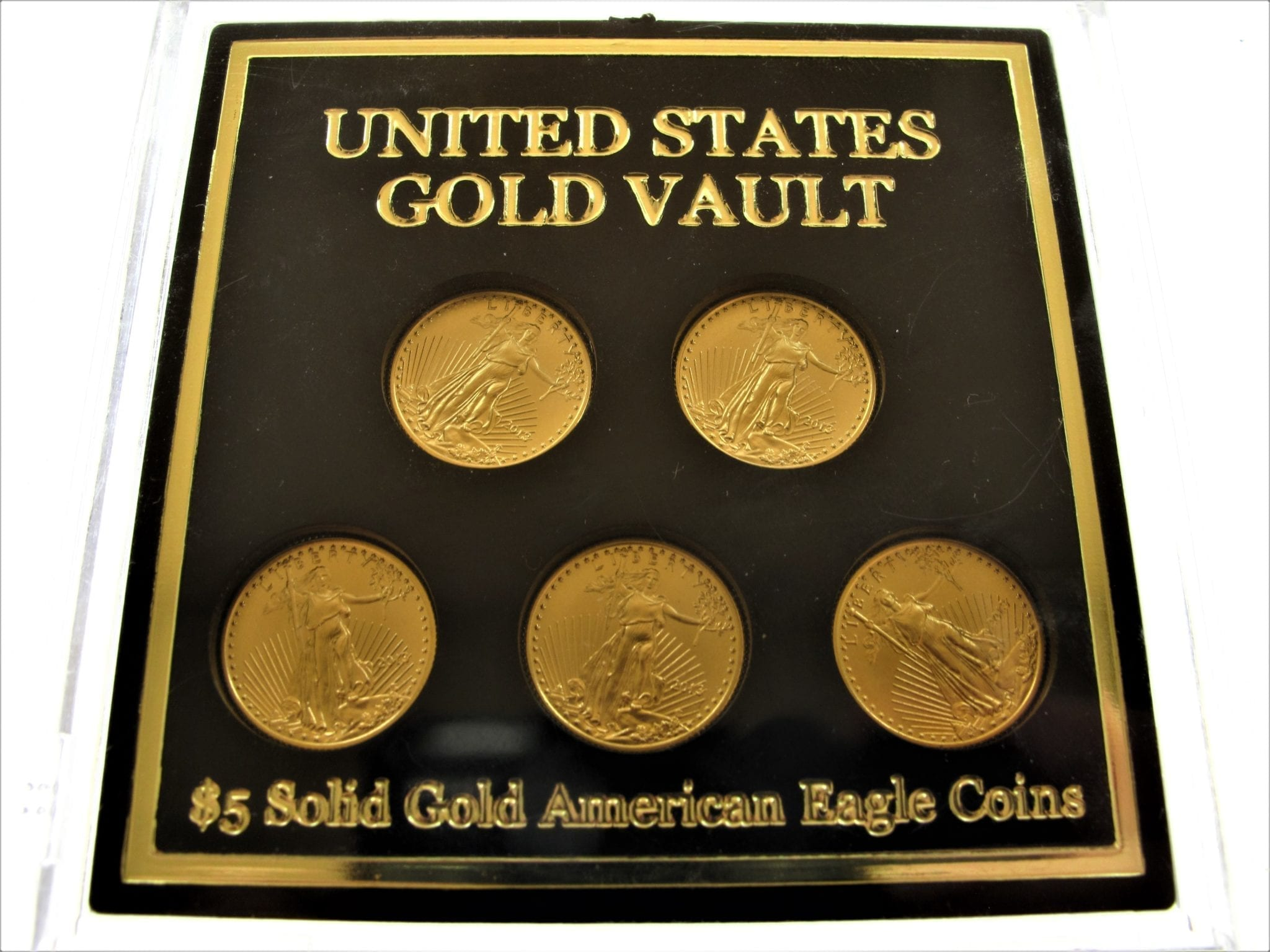 2013 United States Gold Vault 5 Solid Gold American