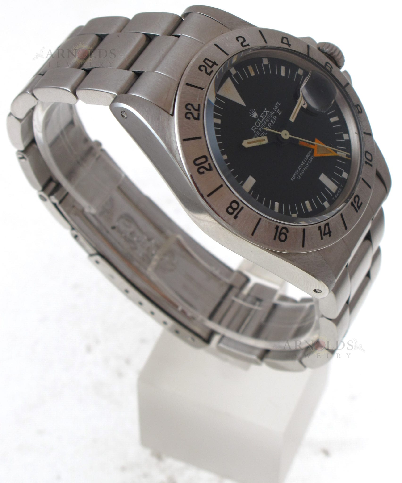 Pre owned 1971 vintage rolex explorer ii steve mcqueen watch stainless steel black mk1 dial for Mcqueen watches