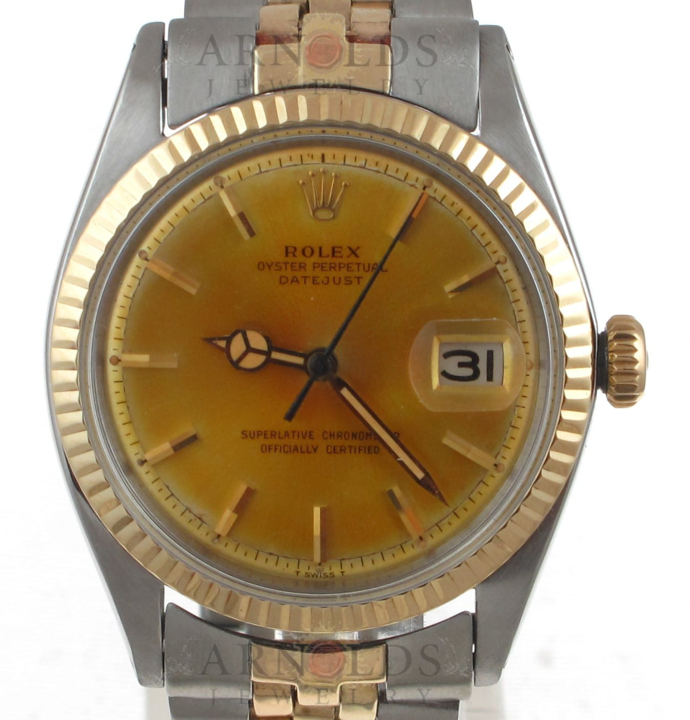 e646f59a400 Previous; Next. 1; 2. Previous; Next. Pre-Owned 1964 Vintage Rolex Datejust  Watch Two Tone With Champagne Dial Fluted Bezel With Jubilee Band ...