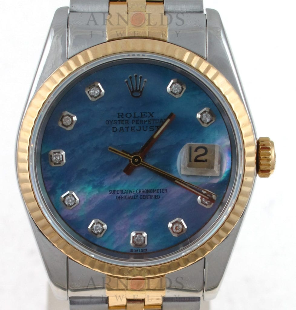 Pre Owned 1989 Two Tone Rolex 36mm Datejust Watch Mother